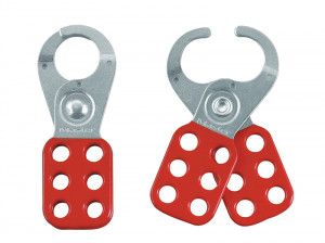 Master Lock Lockout Standard Hasp 25mm Steel Red