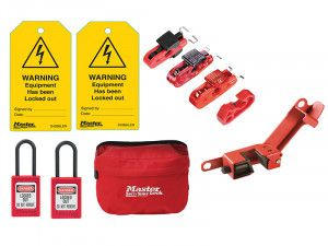 Master Lock Electrical Lockout / Tagout Kit 9-Piece