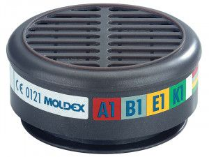 Moldex ABEK1 Gas Filter For 8000 Half Mask (Wrap of 2)