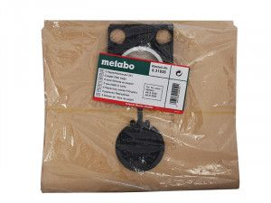 Metabo Paper Filter Bags For ASR Wet & Dry Vacuum Cleaners Pack of 5