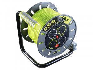 Masterplug PRO-XT Open Cable Reel 25m 13A 4 Socket