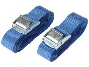 Olympia Cam Buckle 25mm x 2.5m (1in x 100in) 2 Piece