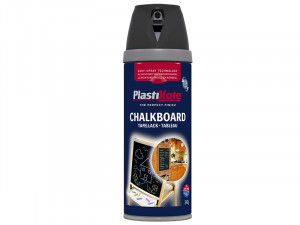Plasti-kote Twist & Spray Chalkboard Paint Black 400ml