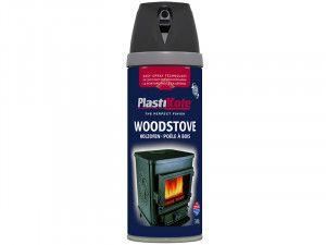 Plasti-kote Twist & Spray Wood Stove Paint Black 400ml