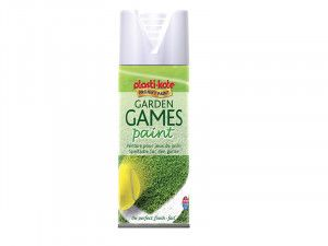 Plasti-kote Garden Games Spray Paint White 400ml