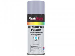 Plasti-kote Multi Purpose Enamel Spray Paint Grey Primer 400ml