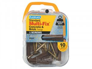 Plasplugs GPS101 Multi-Fix General Purpose Fixings & Screws (10)