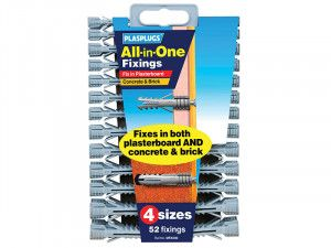 Plasplugs MFA 500 All-In-One Fixings Assorted (52)