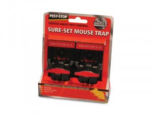 Pest-Stop Systems Sure-Set Mouse Trap Twin Pack