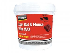 Pest-Stop Systems Super Rat & Mouse Killer MAX Wax Blocks