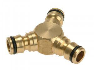 Rehau Brass Y Connector 12.5mm (1/2in)