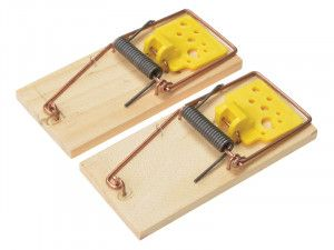 Rentokil Wooden Mouse Traps Twin Pack