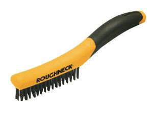 Roughneck Shoe Handle Wire Brush Soft-Grip 255mm (10in)
