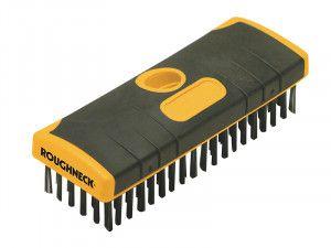 Roughneck Heavy-Duty Scrub Brush Soft-Grip 200mm (8in) NO Handle