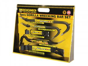 Roughneck Gorilla Wrecking Bar Set (In Display Box) 5 Piece