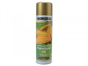 Ronseal Hardwood Garden Furniture Oil Natural Clear Aerosol 500ml
