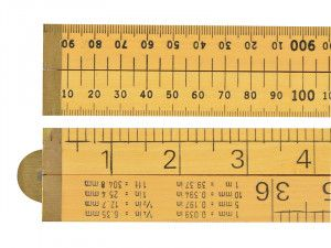 R.S.T. Wooden 4 Fold Rule 1m / 39in (Loose)