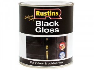 Rustins, Black & White Gloss Paint Water Based