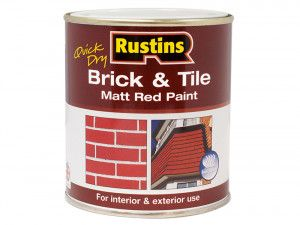 Rustins, Quick Dry Brick & Tile Paint Matt Red
