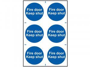 Scan Fire Door Keep Shut - PVC 200 x 300mm