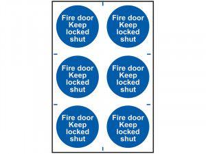 Scan Fire Door Keep Locked Shut - PVC 200 x 300mm