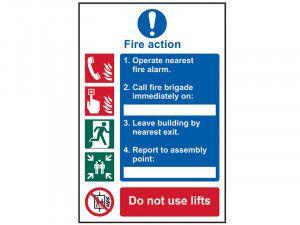 Scan Fire Action Procedure - PVC 200 x 300mm