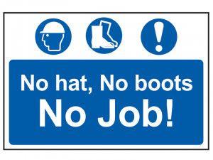 Scan No Hat, No Boots, No Job - PVC 600 x 400mm