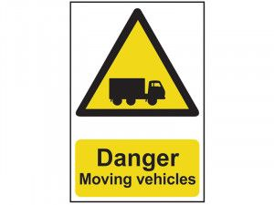 Scan Danger Moving Vehicles - PVC 400 x 600mm