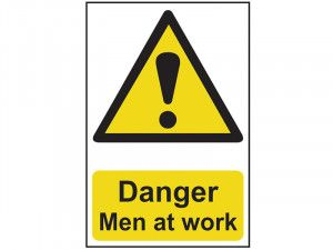 Scan Danger Men At Work - PVC 400 x 600mm