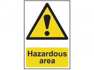 Scan Hazardous Area - PVC 400 x 600mm
