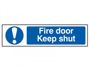 Scan Fire Door Keep Shut - PVC 200 x 50mm