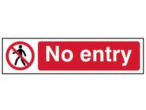Scan No Entry - PVC 200 x 50mm