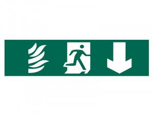 Scan Running Man Arrow Down - PVC 200 x 50mm