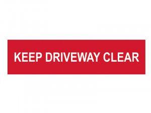 Scan Keep Driveway Clear - PVC 200 x 50mm