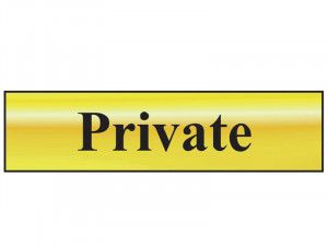 Scan Private - Polished Brass Effect 200 x 50mm
