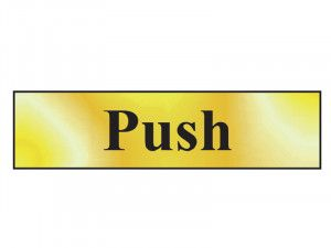 Scan Push - Polished Brass Effect 200 x 50mm