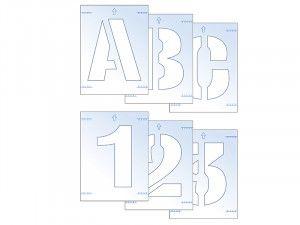 Scan, Letter & Number Stencil Kit