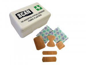 Scan Hypoallergenic Fabric Plasters 100 Assorted