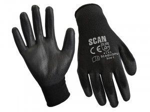 Scan, Black PU Coated Gloves