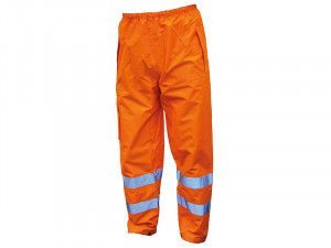 Scan, Hi-Vis Motorway Trousers Orange