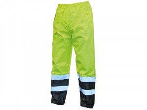 Scan, Hi-Vis Motorway Trousers Yellow Black