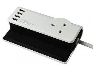 SMJ Desktop Charging Station 1.4m 4 x USB 13A 240 Volt