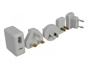 SMJ Worldwide Travel USB Adaptor, Charger Kit