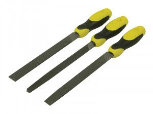 Stanley Tools File Set 3 Piece Flat , 1/2 Round, 3 Square 200mm (8in)