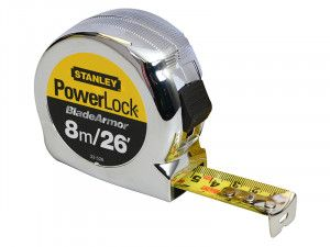 Stanley Tools PowerLock® BladeArmor™ Pocket Tape 8m/26ft (Width 25mm)