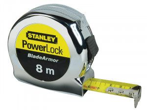 Stanley Tools PowerLock® BladeArmor™ Pocket Tape 8m (Width 25mm)