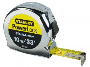 Stanley Tools PowerLock® BladeArmor™ Pocket Tape 10m/33ft (Width 25mm)