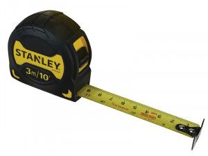 Stanley Tools Grip Pocket Tape 3m/10ft (Width 19mm)