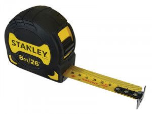 Stanley Tools Grip Pocket Tape 8m/26ft (Width 28mm)