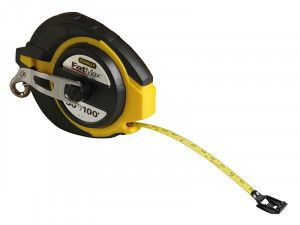Stanley Tools FatMax® Closed Case Steel Long Tape 30m (Width 9.5mm)